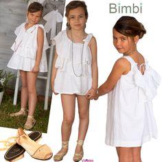 Todo al blanco con Bimbi moda infantil