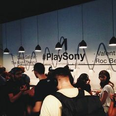 Inside @elitamilano for the new #SonyMDR #PlaySony