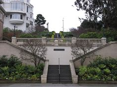 All day long, joggers huff and puff up these steps, which feature a spectacular view of the Palace of Fine Arts and the bay.  At the bottom of the steps, there is an odd indentation in the adjoining Presidio wall, a notch occupied by six houses.  Briones was born in 1802 at the Villa Branciforte in Santa Cruz, a short-lived retirement home for soldiers established by the Spanish crown.  Built in North BeachAt some point, Briones built a second home 2 miles to the east, an adobe farmhouse…
