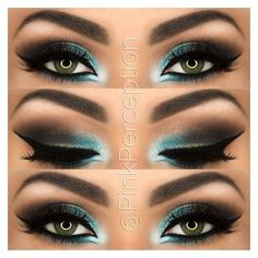 Idk if I could actually do this, but it's super pretty! #greeneyemakeup