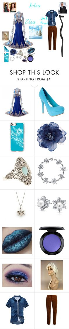 """""""Jelsa"""" by batgirl-at-the-disco3 ❤ liked on Polyvore featuring Casetify, Accessorize, Bling Jewelry, Tiffany & Co., MAC Cosmetics, AMI, NOVICA, Vera Wang, awesome and JackFrost"""