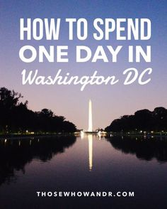 In this extremely packed one day itinerary of Washington DC, we'll hit up most of the monuments and memorials, a couple of museums and galleries, and a gorgeous waterfront. You're going to be doing a lot of walking, so bring your comfiest shoes. Let's go!