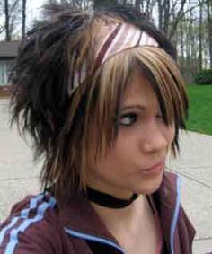 Short scene hairstyles for girls emo hairstyles for girls with short and sassy emo feminine boy solutioingenieria Images