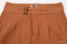 RUBINACCI Napoli Brown Cotton Pleated Casual Bermuda Shorts EU 52 US 36 NEW