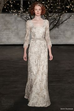 Jenny packham bridal spring 2014 lucy gold embellished wedding dress. Gorgeous!
