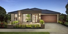 Browse the various new home designs and house plans on offer by Carlisle Homes across Melbourne and Victoria. Find a house plan for your needs and budget today! Modern Bungalow Exterior, Modern House Facades, Modern Bungalow House, Modern House Plans, Minimal House Design, Modern Small House Design, House Front Design, Aspen, Carlisle Homes
