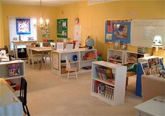 great homeschool room.