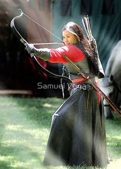 Ranger Archer by Samuel Vega --is.she wearing a katana? Warrior Girl, Fantasy Warrior, Warrior Princess, Traditional Archery, Aikido, Action Poses, Yokohama, Katana, Geisha