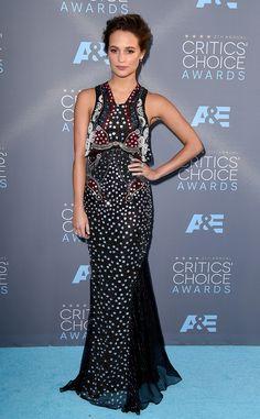 Alicia Vikander at the 2016 Critics' Choice Awards.