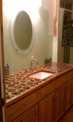 Cordwood Vanity top  Shared from Cordwood Construction pinned with Pinvolve