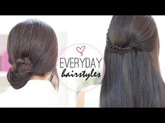 ♥ ♥ READ ME / EXPLANATIONS ♥ ♥ EASY EVERY DAY HAIRSTYLES Today I'm going to show you how to achieve three very simple, but yet beautiful hairstyles. They are...