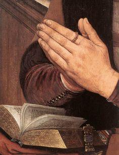 ❤ - HANS MEMLING (1430 - 1494) -  Diptych of Maarten Nieuwenhove (detail).