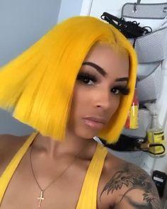 Baddie Hairstyles, Black Girls Hairstyles, Cute Hairstyles, Wig Styles, Curly Hair Styles, Natural Hair Styles, Yellow Hair, Bodak Yellow, Hair Inspo