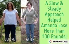 How Amanda Lost 105 Pounds the Healthy Way: Read her amazing story and see more pics! Proof that YOU can win this battle, too! | via @SparkPeople #motivation #weight #diet #healthy