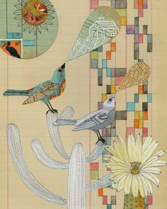 Mixed Media collages by Geninne Zlatiks.