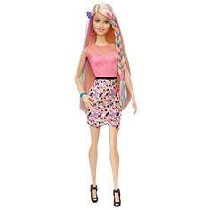 Barbie Rainbow Hair Doll New