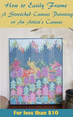 Professional framing can be expensive, especially if you want to frame a piece of art on a stretched canvas. However, you can easily frame an artist canvas yourself using wood lattice and a few tools. Artist Canvas, Canvas Art, Light Up Canvas, Diy And Crafts Sewing, Upcycled Crafts, Mosaic Designs, Diy Crafts Videos, Art Crafts, Paper Crafts