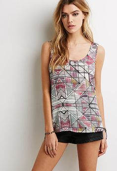 Bow-Back Abstract Print Top   Forever 21 - 2000080839
