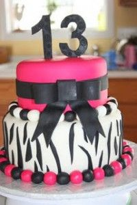 Our daughter wants this cake for her birthday! Minus the hot pink, she says purple instead :)
