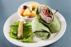 California wrap- turkey, homemade guacamole, cheese, lettuce, tomato and bacon