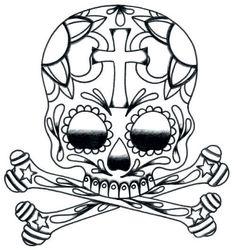 Tattoo: how to draw a sugar skull