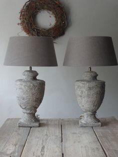 Resultaat: Oude lampen landelijk gemaakt. met muurvuller of tegellijm...