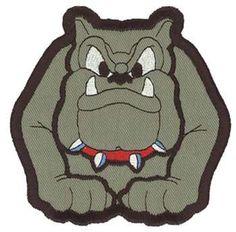 Bulldog Applique embroidery design
