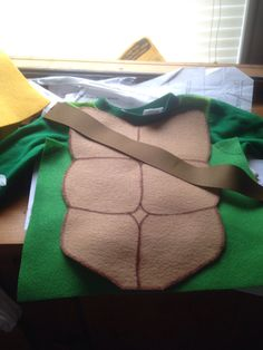 Teenage mutant Ninja turtles Halloween costume DIY felt and ribbon