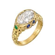 Estate Alex Sepkus 1.75ct Oval-Cut Diamond Ring