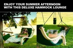 New Deluxe Patio Hanging Air Padded Swing Lounger Hammock Chair - Green