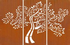DECORATIVE-METAL-SCREENS-CORTEN-LASER-CUT-GARDEN-SCREEN-D58-3-Screen-Set-1-6mm