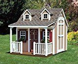 Suncast W89L Backyard Cottage Playhouse with Porch and Dormers, 8 x 9-Feet