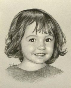 """""""Lexi - portrait commission"""" - Original Fine Art for Sale - © Rita Kirkman Baby Drawing, Drawing For Kids, Children Drawing, Drawing Ideas, Pencil Drawings, Art Drawings, Colored Pencil Portrait, Jr Art, Black And White Drawing"""