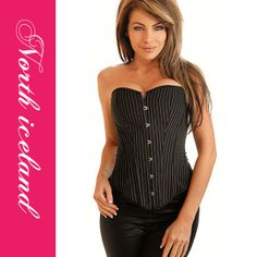 Strapless corset with front busk closure, lace-up back for cinching and matching thong. Strapless Corset, Sexy Corset, Corset Underwear, Fashion Outfits, Fashion Women, Bellisima, Hot, Bustiers, Clothes For Women