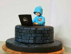 27 Ideas cake fondant ingeniero for 2019 Birthday Cakes For Men, Cakes For Boys, Computer Cake, Computer Theme, Dj Cake, Cake Art, Fondant Cakes, Cupcake Cakes, Cupcakes