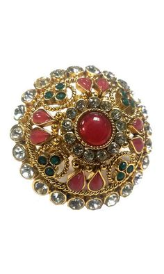 Bague Royale Indienne - Multicolore Indian Queen Ring