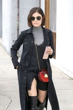 Lucy Hale #LucyHale Showcasing Her New Bob Haircut West Hollywood 22/02/2017 Celebstills L Lucy Hale