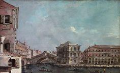 Francesco Guardi - The Grand Canal above the Rialto [1760s]