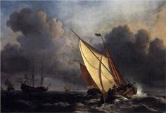 Dutch Fishing Boats in a Storm - William Turner