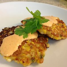 """Bust into a silo and steal some Corn"" Fritters - inspired by Nebraska."