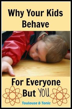Does everyone tell you that your kids are a delight to take care of but with you they act like tasmanian devils? This might be why! As a mom, I LOVE THIS THEORY!  | inspiration | funny | humor | parenting