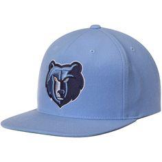 huge discount 3105b 35e54 Men s Memphis Grizzlies Mitchell  amp  Ness Light Blue Current Logo Wool  Solid Adjustable Snapback Hat