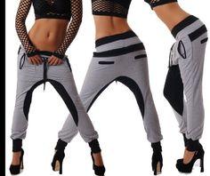 Women/'s Jeans Jogging Style Boyfriend Harem Tracksuit Lace Trousers HOT 6-14