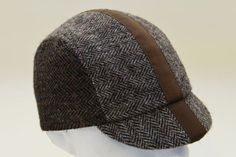 No 16 Harris Tweed cycling cap