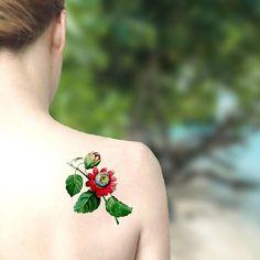 Passiflora tatuaggio temporaneo / Simbolo della Passione