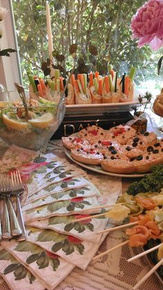 Vintage Bridal Shower Buffet