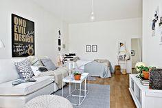 Les petites surfaces du jour : un studio en tons doux - PLANETE DECO a homes world