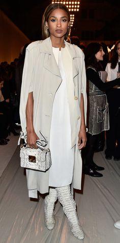 Ciara in head-to-toe Lanvin.