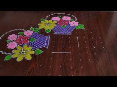 Easy Rangoli Patterns, Rangoli Borders, Rangoli Border Designs, Rangoli Designs Diwali, Rangoli Designs With Dots, Rangoli Designs Images, Rangoli With Dots, Beautiful Rangoli Designs, Lotus Rangoli