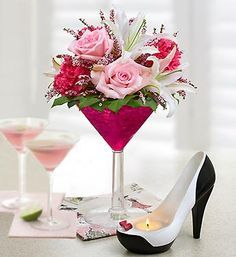 Adorable gift for a girlfriend or a center piece for a  girl's night out.